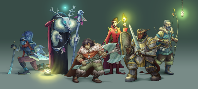 D&D party art